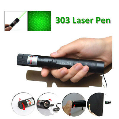 1mw 303 Green Pointer Laser Pen Adjustable Focus 532nm Quality + 2 Safety Keys