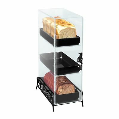 Cal-Mil 1204-13 Clear Acrylic 3 Level Bread Box with Wire Base