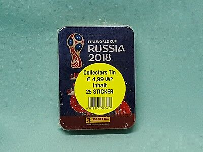 Panini WM 2018 Russia World Cup Sticker Collectors Mini Tin Box inkl. 5 Tüten