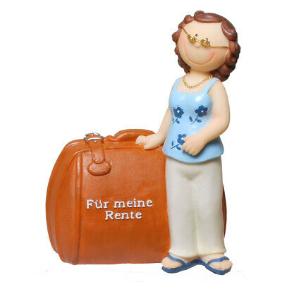 Spardose Rentnerin Rentnerkasse Sparschwein 15 cm,Money Piggy Box Bank