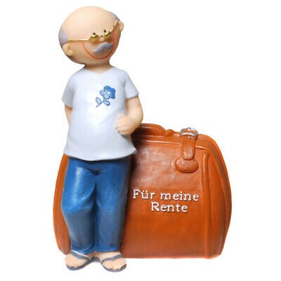 Spardose Rentner Rentnerkasse Sparschwein 15 cm,Money Box Bank
