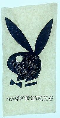 Vintage 60s Playboy Bunny Iron On Transfer Hugh Hefner  4x7 inches **RARE**