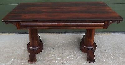 Lovely Antique Regency Rosewood Hall / Writing Table Desk