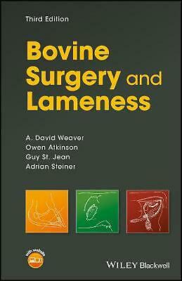 Bovine Surgery and Lameness by A. David Weaver Paperback Book Free Shipping!