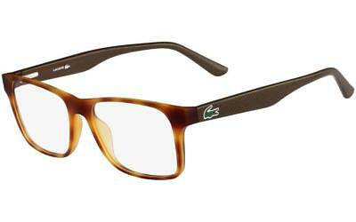 2a22a1194bb9 Lacoste Eyeglasses L2741 218 Light Havana Frame   Clear Lenses (NO CASE)