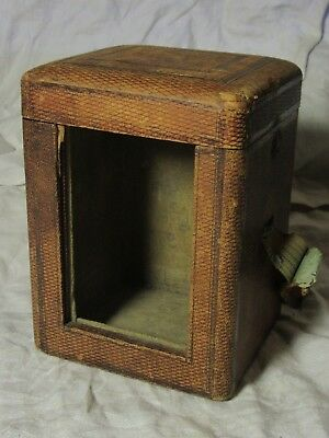 Antique CARRIAGE CLOCK TRAVELLING CASE c1880 (Case Only)