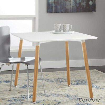 NEW Small White Dining Table 4 Seater Unit Caravan Cafe Shop Replica Eames DSW