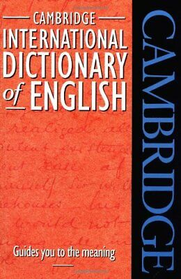 Cambridge International Dictionary of English Paperback Book The Cheap Fast Free