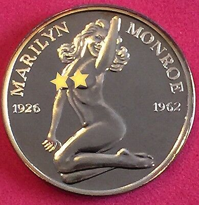 Bronze Brilliant Buillion Marilyn Monroe Coin