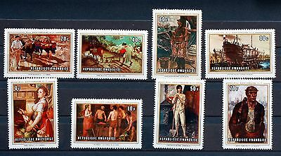 8 STAMPS RWANDA NEW PAINTINGS serie fully Scott 310/7 88M635