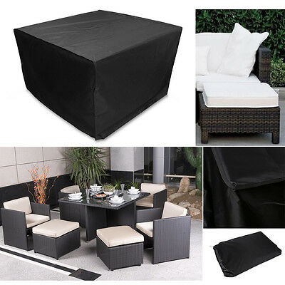 Best Heavy Duty Waterproof Rattan Cube Outdoor Garden Furniture Dust Rain Cover