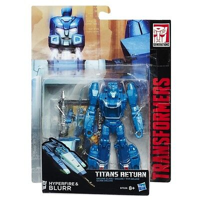 Transformers Generations Titans Return Hyperfire And & Blurr Deluxe Class New