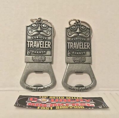 Traveler Beer Curious Traveler Shandy Lot of (2) Keychain Bottle Openers - New!