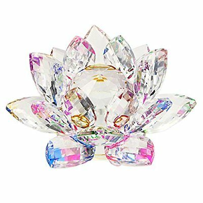 OwnMy Sparkle Crystal Lotus Flower Hue Reflection Feng Shui Home Decor with Gift