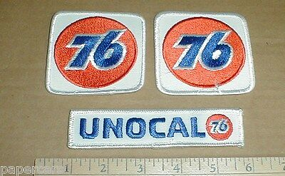 3 Union 76 Unocal Racing Gasoline retro auto racing hat jacket patch New patches