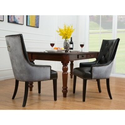 Stupendous Cadence Dining Side Chair Button Tufted Pu Leather Velvet Caraccident5 Cool Chair Designs And Ideas Caraccident5Info