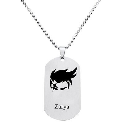 Overwatch Zarya Dogtag Pendant All Heroes Anhänger Halskette