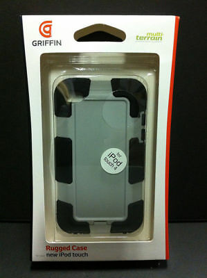 Griffin Military Rugged Hard Shell Case for iPod Touch 4G 4th Gen Black/Gray NEW