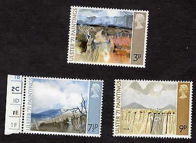1971 Ulster Paintings SG881-3 MNH