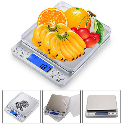 0.01 -500g Stylish Silver LCD Pocket Scale For Weighing Gold Herbs Jewellery UK
