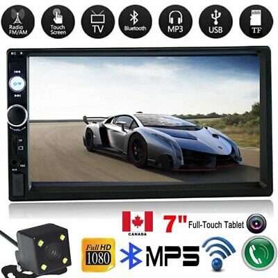 "2DIN 7"" HD Car Stereo Radio MP5 Player Bluetooth Touch Screen + Camera CA"