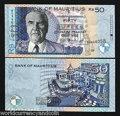 Mauritius 50 Rupees New 2009 Paturau Justice Unc Africa Currency Money Bank Note