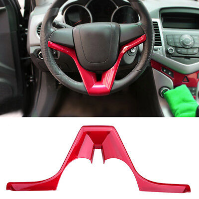 Car Steering Wheel Decorate Cover Trim Red for Chevrolet Cruze Trax Tracker DY