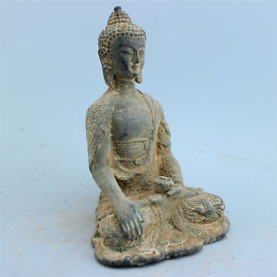 Chinese Folk Culture bronze statue hand-carved collection Family art Buddha