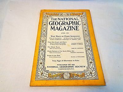 Vintage Mid-Century National Geographic Magazine June 1946 Navy Pirates Cape Cod