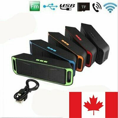Canada Wireless Bluetooth Speaker USB Flash FM Radio Stereo Bass MP3 Player