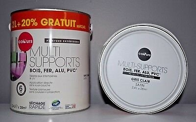 "Peinture Multi supports ""Colours"" Gris clair 2,4 L"