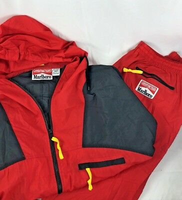 Vintage cowboys 90's Marlboro Adventure Team Track Suit Jacket & Pants Size L