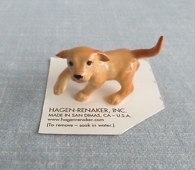 Hagen-Renaker Miniature Golden Lab Pup 38881 Labrador Retriever Dog Figurine