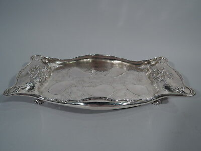 Whiting Oyster Tray - 1234A - Antique Aesthetic - American Sterling Silver