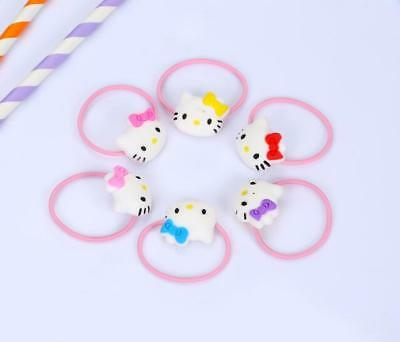 6pcs Hello Kitty Children's Girls Elastic Bands Baby Hair Rope Rubber Band