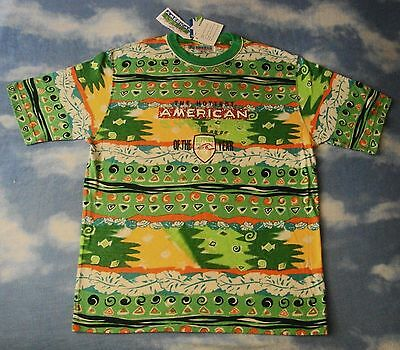 T-SHIRT vintage 80's AMERICAN SYSTEM sport stuff  tg.L made in Italy NEW! Rare