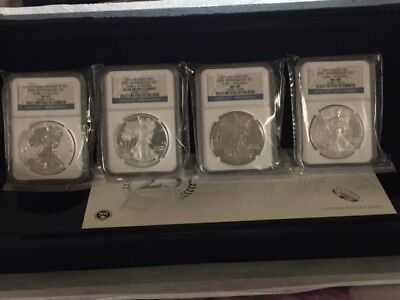 2011-MS-69 and Proof-69-American Eagle 25TH Anniversary Silver Coin Set