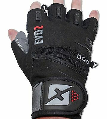 Skott Evo 2 Weightlifting Gloves with Integrated Wrist Wrap Support [XL]