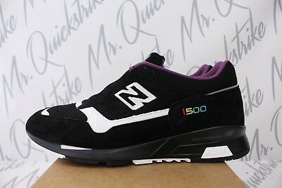 ed612a5905f NEW BALANCE 1500 Made In Uk Sz 11.5 Color Prism Black White Purple M1500Cpk
