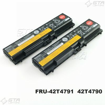"Lot of 2 Lenovo ThinkPad Laptop Battery 55+ 57Wh FRU-42T4791""FAIR"" Condition"