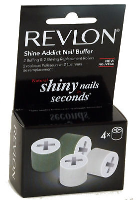 *genuine* Revlon Shine Addict Nail Buffer Replacement/ Refill Rollers - *new*