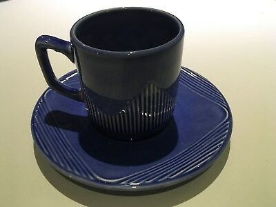 PAGNOSSIN ITALY SPECIAL PRODUCTION Demitasse espresso cup and saucer Blue
