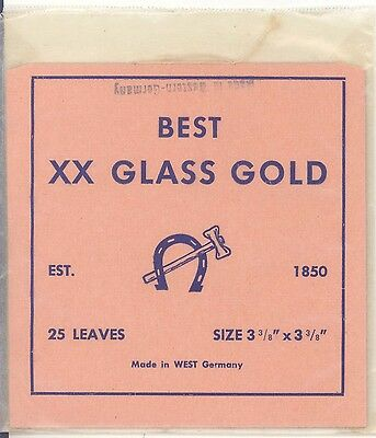 22K BEST XX GLASS GOLD 25 leaves MADE in WEST GERMANY gold leaf goldleaf