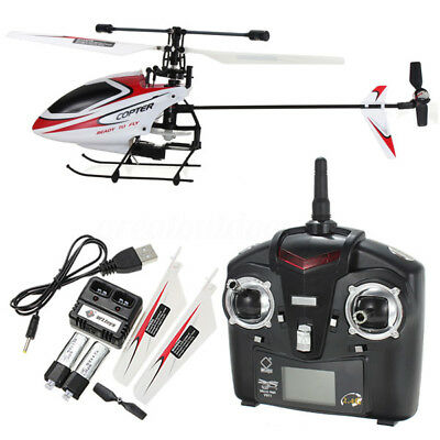 V911 2.4G 4CH Upgraded WLtoys Single Blade Remote Control RC Helicopter w/ Gyro