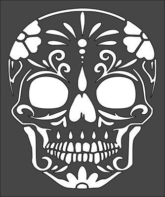 1 5x6 Inch Stencil Day Of The Dead Free Shipping 2