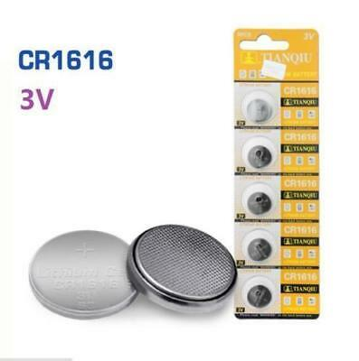 New 5Pcs CR1616 3V Coin Button Batteries Cell Battery For Watch Toys Remote
