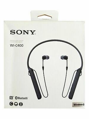 Sony WI-C400 Wireless Bluetooth Earbuds Neckband Headphones WIC400 Black