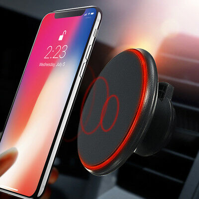 360° Qi Wireless Car Charger Holder Magnetic Air Vent Mount For Iphone X Samsung