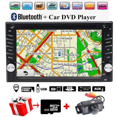 "Autoradio 2 Din 6.2"" GPS Navigatore DVD CD Bluetooth Stereo Touchscreen + Camera"