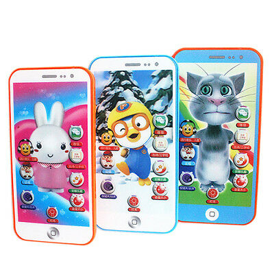 AU_ Child Simulator Music Cell Phone Touch Screen Educational Learning Toy Littl